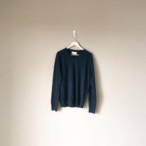 Frank & Oak 100% Wool V-Neck Long Sleeve Sweater